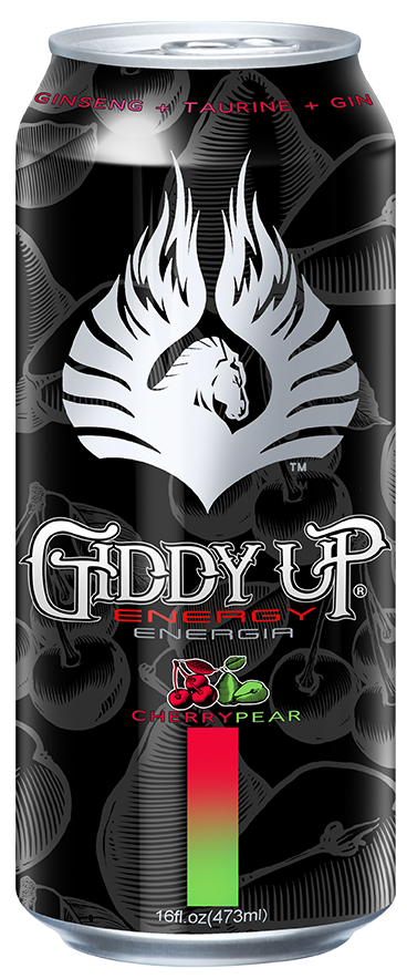Giddy Up flavored energy drink