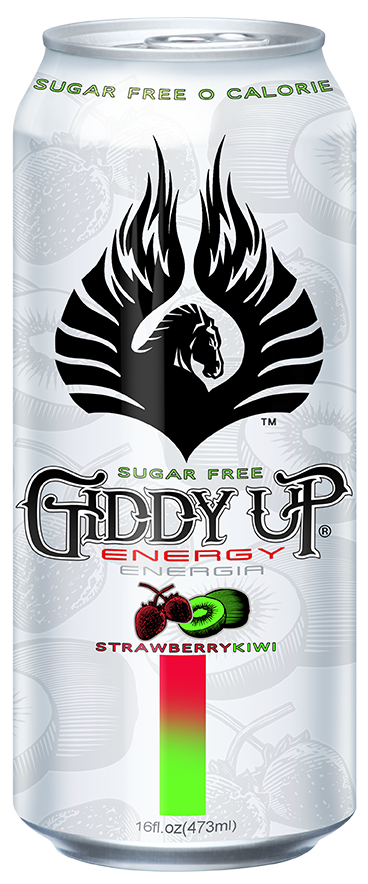 Giddy Up sugar-free flavored energy drink